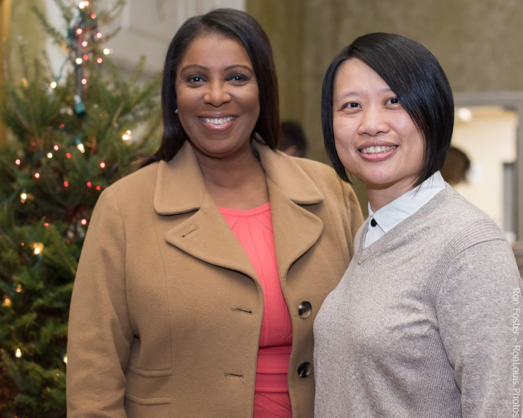 Letitia James and Ling Hsu